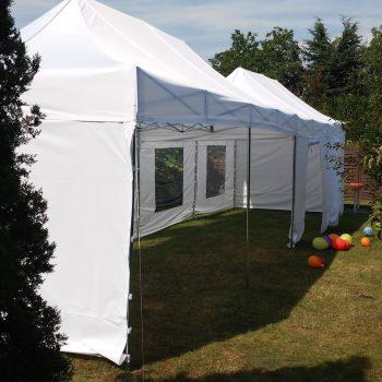 Namiot biały 6x12m, 20 do 36 osób