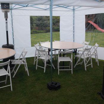 Namiot biały 3x3m, 6 do 8 osób