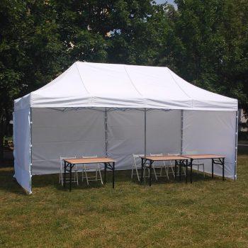 Namiot biały 3x6m, 10 do 20 osób