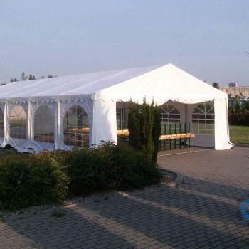 Namiot biały 6x12m, 40 do 80 osób