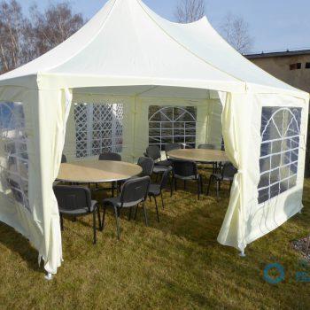 Namiot kremowy 4x6m, 10 do 24 osób