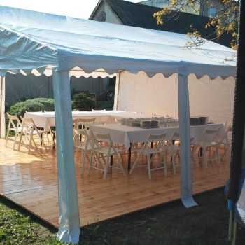 Podłoga drewniana - sosnowa do namiotów