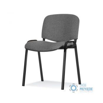 Krzesło tapicerowane grafitowe
