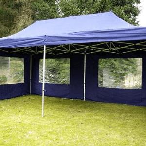 Namiot dla 15 osób – niebieski – 3x6m – 18m2