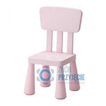 Krzesła dla dzieci - krzesło różowe