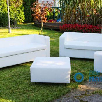 Sofa 2 osobowa biała