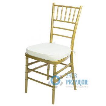 Krzesło złote z poduszką
