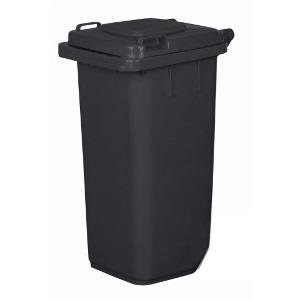 Kosz na śmieci - 120l - brązowy / czarny