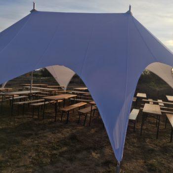 Namiot typu gwiazda dla 100 osób - z 2 masztami