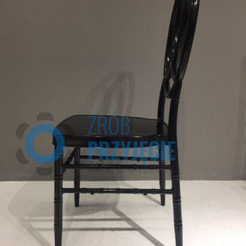 Krzesło bankietowe czarne - metalowe