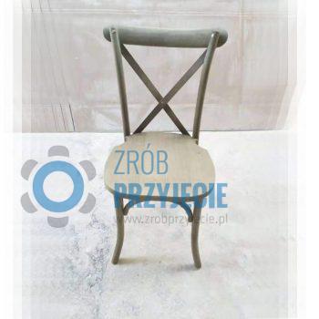 Krzesło drewniane rustykalne BOHO
