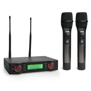Dwa mikrofony bezprzewodowe + baza