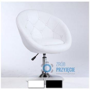 Fotel obrotowy niski - biały