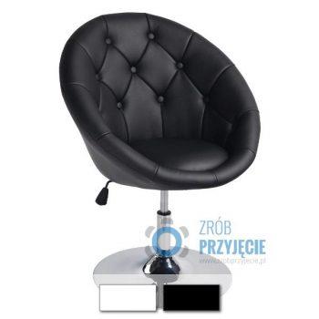 Fotel obrotowy niski - czarny