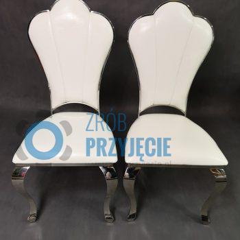 Krzesła dekoracyjne - srebrne
