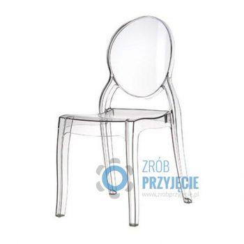 Krzesło przezroczyste Ghost/Elizabeth