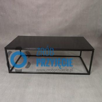 Stół kawowy czarny 60x120