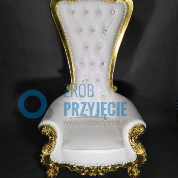 Tron weselny złoto - biały