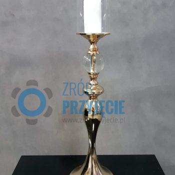 Świecznik złoty