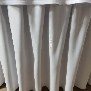 Falbana (skirting) do stołów okrągłych i prostokątnych