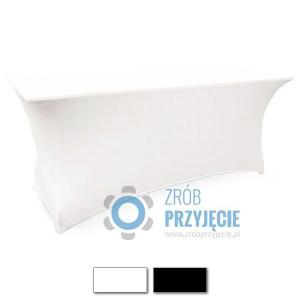 Obrusy streczowe – prostokątne białe