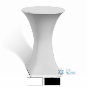 Obrusy streczowe białe – stoły koktajlowe