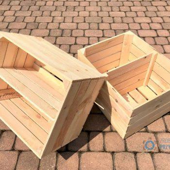 Skrzynka drewniana - z półką