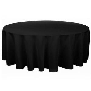 Obrusy klasyczne czarne - do ziemi - do stołów okrągłych fi 180 cm (10-12 osobowe)