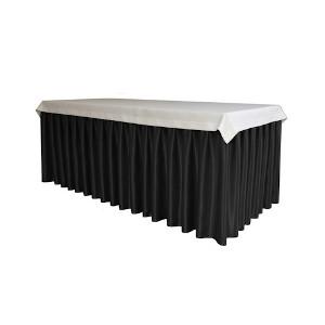 Falbana (skirting czarny) do stołów okrągłych i prostokątnych