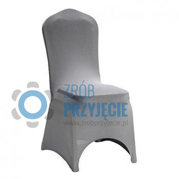 Krzesło bankietowe z szarym pokrowcem