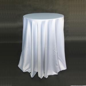 Stół okrągły koktajlowy biały