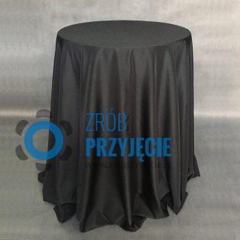 Stół okrągły koktajlowy czarny
