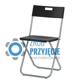 Krzesło czarne składane
