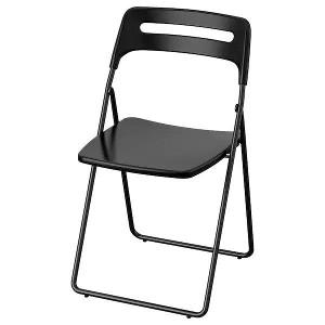 Krzesło składane, czarne - VIP