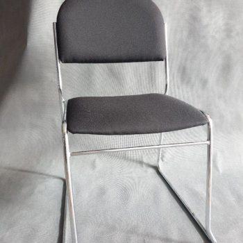 Krzesło tapicerowane czarne