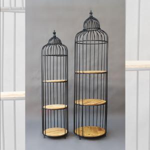 Metalowo - drewniane klatki ozdobne