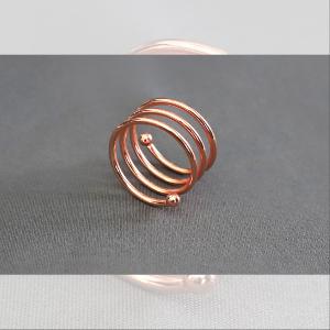 Obrączki na serwetki - obr07 - różowe złoto