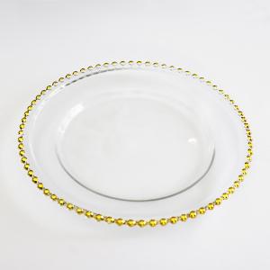 Podtalerz szklany - z złotymi kulkami