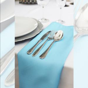 Serwetka bankietowa materiałowa - nr S10 - kolor jasny niebieski
