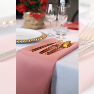 Serwetka bankietowa materiałowa - nr S14 - kolor brudny róż