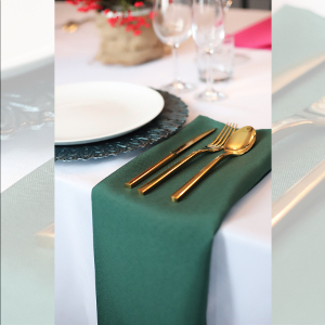 Serwetka bankietowa materiałowa - nr S17 - kolor zielony
