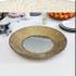 Złote lustrzane okragłe patery 51 cm